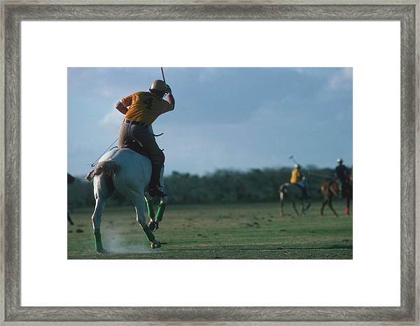 Polo Match Framed Print by Slim Aarons