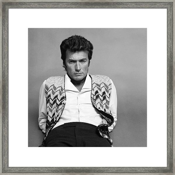 Portrait Of Clint Eastwood Framed Print by Jack Robinson