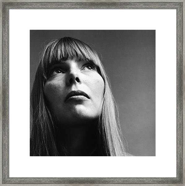 Portrait Of Joni Mitchell Framed Print