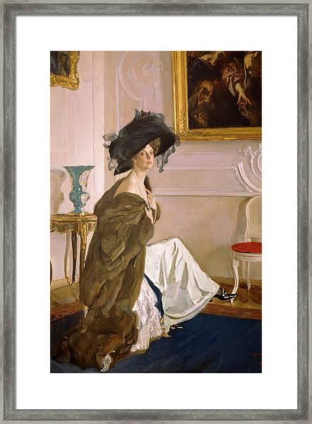 Portrait Of Princess Olga Orlova Framed Print