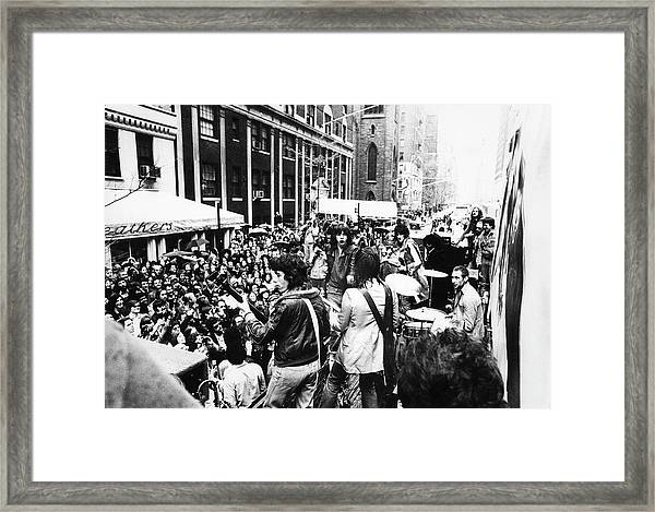 Rolling Stones On Fifth Avenue Framed Print