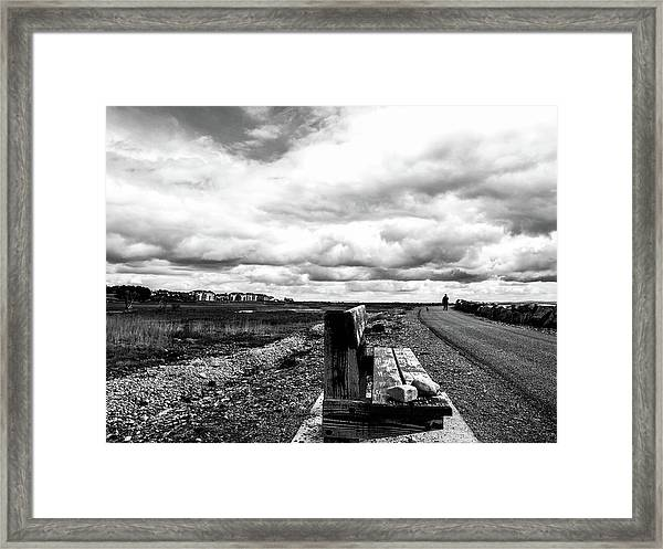 2 Stones On Bench Framed Print