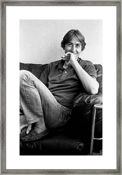 Talk Talk Singer Mark Hollis London 1990 Framed Print