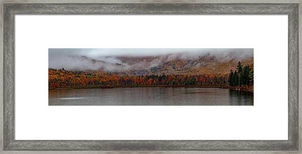 The Basin In Maine Framed Print