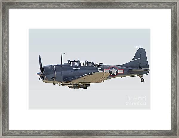 Vintage World War II Dive Bomber Framed Print