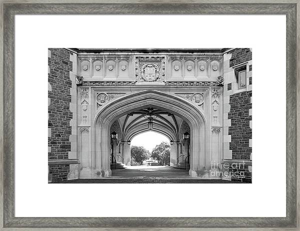 Washington University Brookings Hall Framed Print
