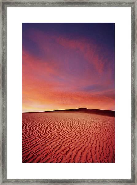 Xl Desert Sand Sunset Framed Print