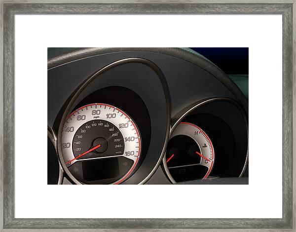 2008 Acura Tl Type S Gauges Framed Print