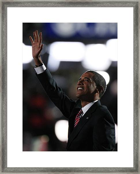 2008 Democratic National Convention Day Framed Print by John Moore