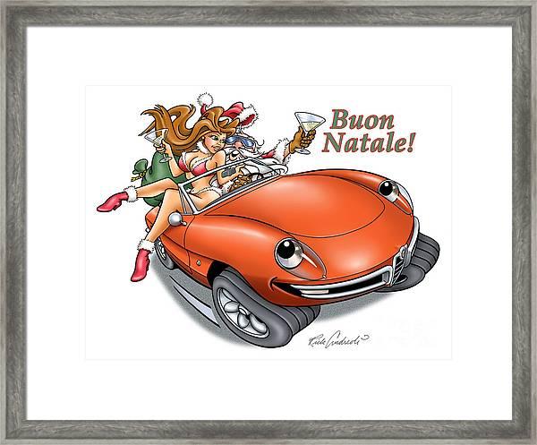 2009 Alfa Club Christmas Card Framed Print