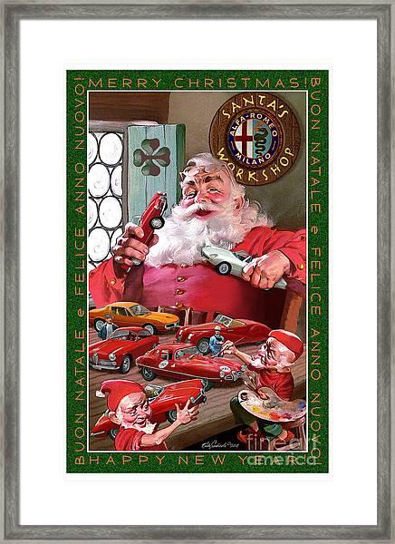 2011 Alfa Club Christmas Card Framed Print