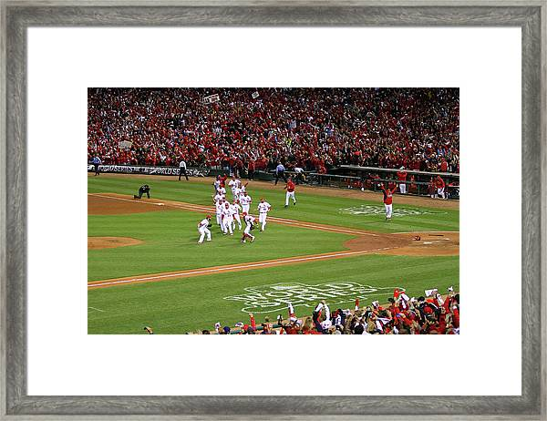 2011 World Series Game 7 - Texas Framed Print