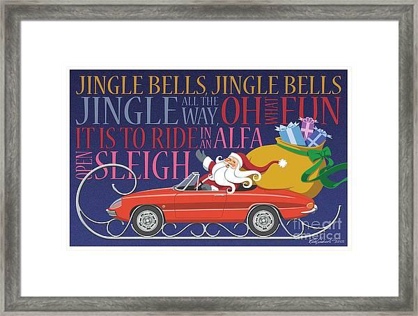 2012 Alfa Club Christmas Card Framed Print
