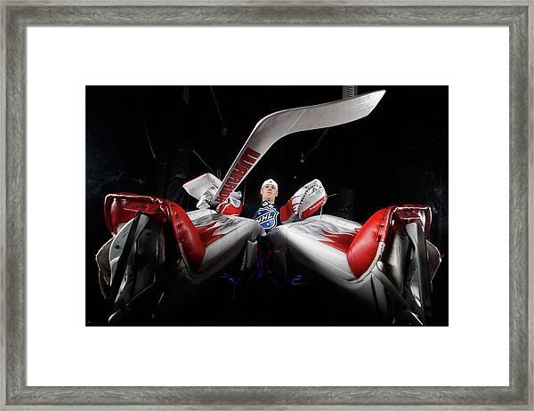 2012 Nhl All-star Game - Player Framed Print by Gregory Shamus