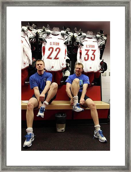 2012 Tim Hortons Nhl All-star Game Framed Print by Bruce Bennett
