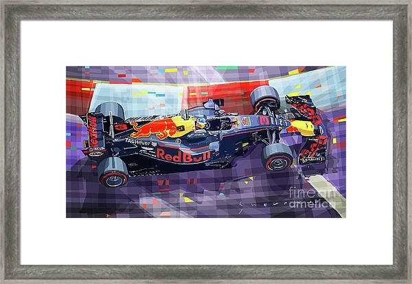 2017 Singapore Gp F1 Ricciardo   Framed Print by Yuriy Shevchuk
