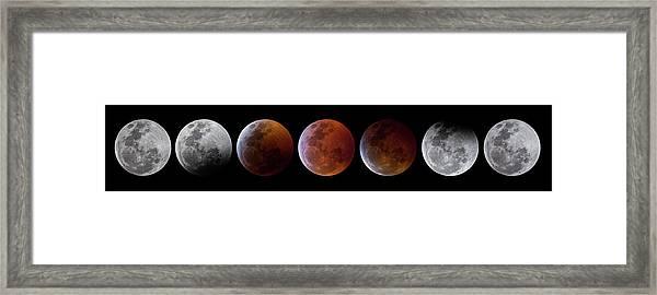 2019 Lunar Eclipse Progression Framed Print