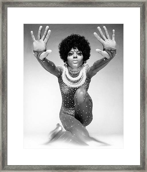 Diana Ross Portrait Session Framed Print by Harry Langdon