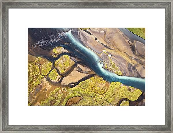 Iceland Aerial View Framed Print by Werner Van Steen