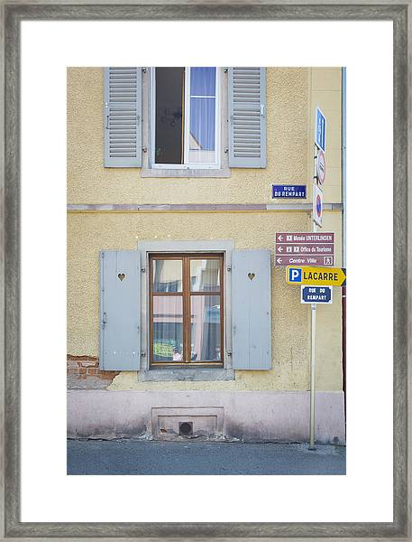 27 Rue Du Rempart Framed Print