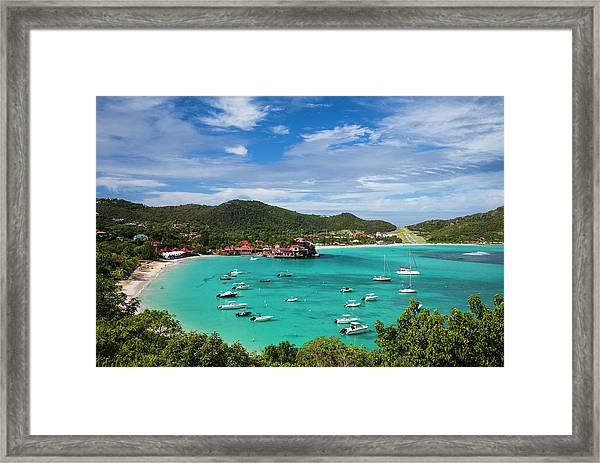 French West Indies, St-barthelemy Framed Print by Walter Bibikow