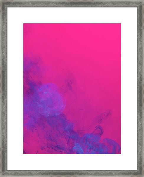 Colored Smoke Framed Print by Henrik Sorensen
