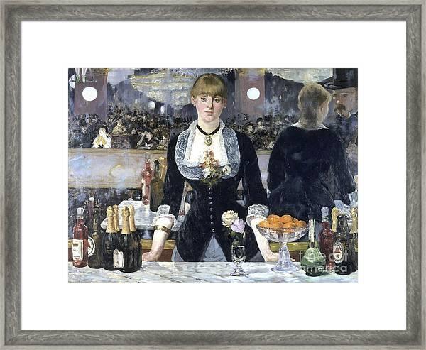 A Bar At The Folies Bergere Framed Print