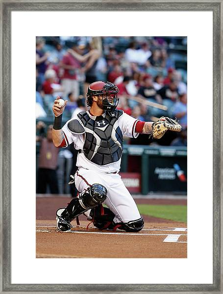 Atlanta Braves V Arizona Diamondbacks Framed Print