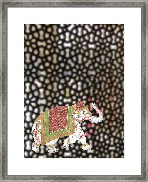 Caparisoned Elephants  Framed Print