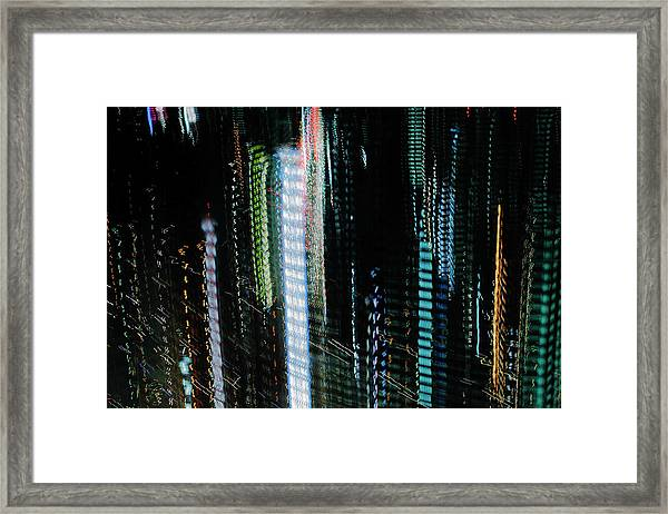 Cityscape Of Tokyo At Night Framed Print