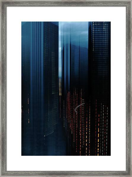 Cityscape Of Tokyo Before Sunset Framed Print