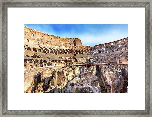 Colosseum, Rome, Italy Framed Print by William Perry
