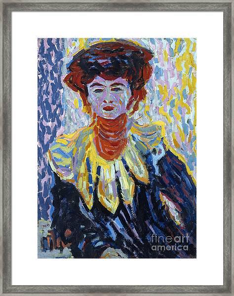 Doris With Ruff Collar Framed Print