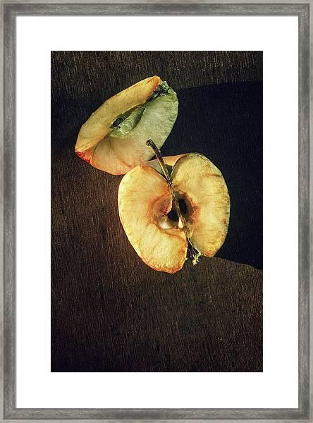Drying Apple Framed Print