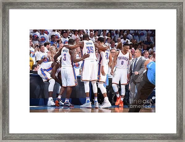 Golden State Warriors V Oklahoma City Framed Print