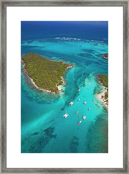 Grenadines Tobago Cays Framed Print