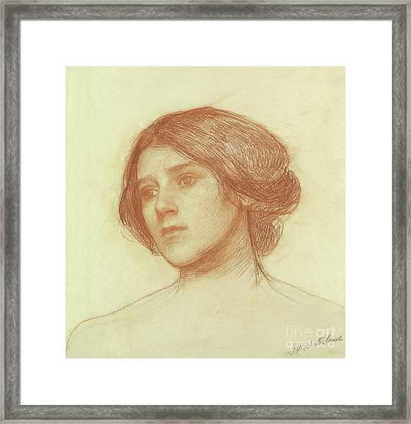 Head Of A Girl Framed Print