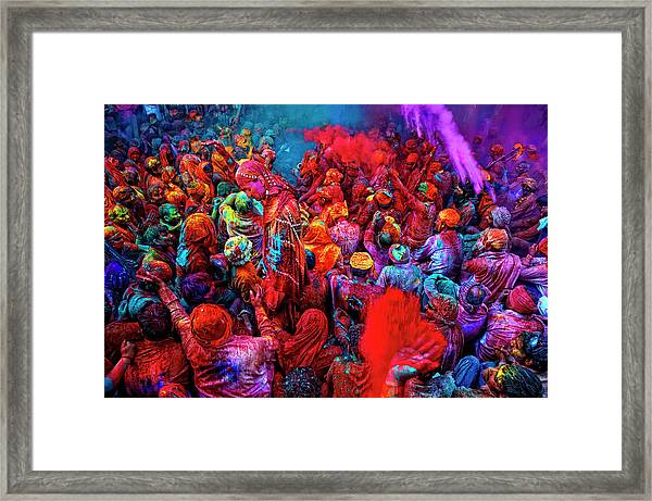 Holi, The Festival Of Colors, India Framed Print
