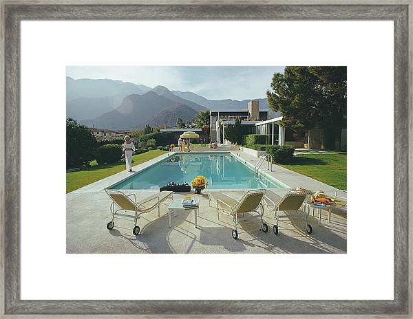 Kaufmann Desert House Framed Print by Slim Aarons