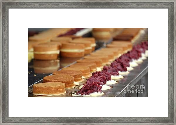 Making Red Bean Cakes Framed Print