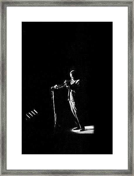 Photo Of Miles Davis Framed Print by David Redfern