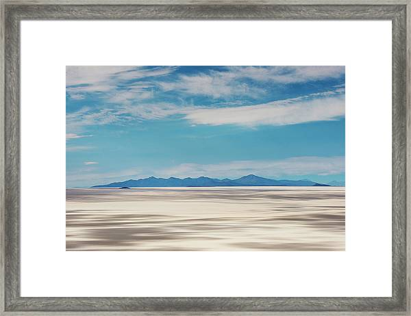 Salar De Uyuni, Bolivia Framed Print by Anthony Asael