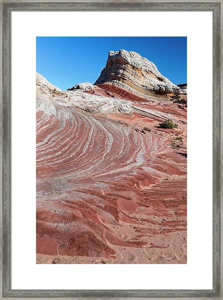 Sandstone Landscape, Vermillion Cliffs Framed Print by Howie Garber