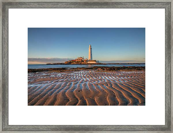 St Mary's Lighthouse - England Framed Print