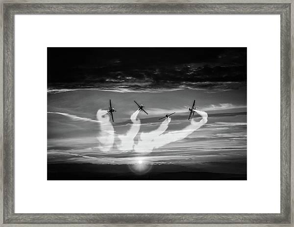 The Blades Framed Print