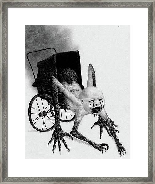 The Nightmare Carriage - Artwork Framed Print