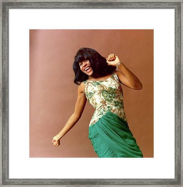 Tina Turner Portrait Session Framed Print by Michael Ochs Archives