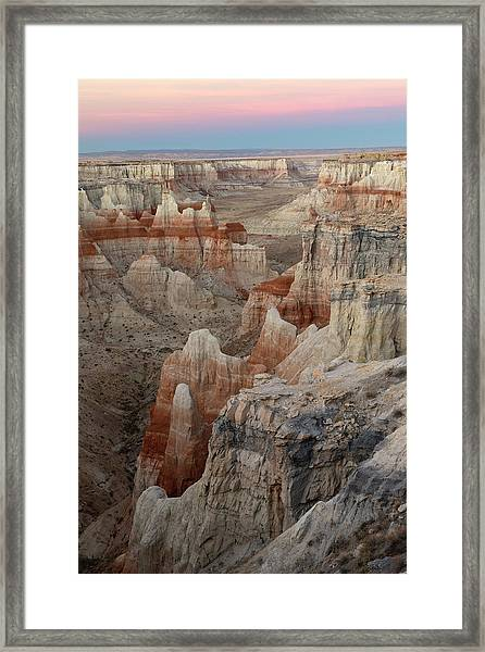 Unique Colorful Formations Of Coal Framed Print by Adam Jones