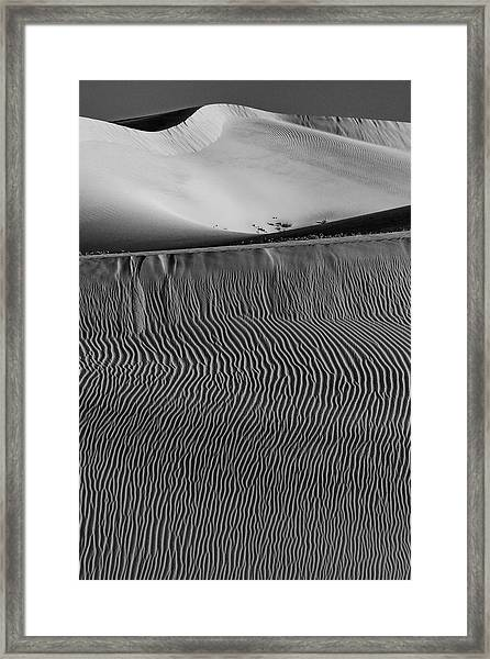 Usa, California Black And White Image Framed Print by Judith Zimmerman