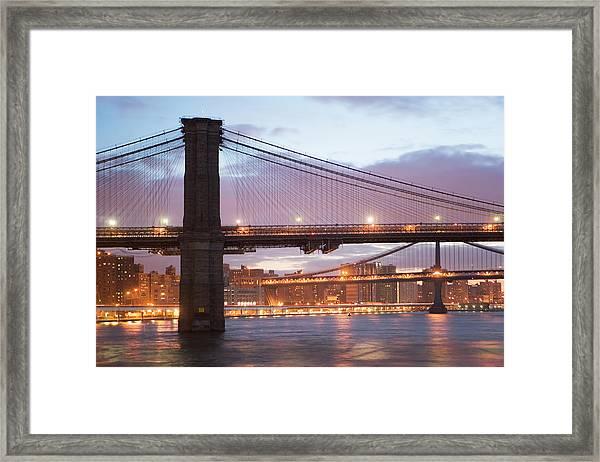Usa, New York State, New York City Framed Print